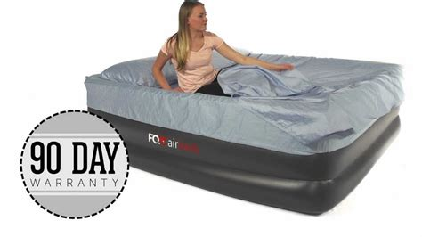 airmattress fox airbed plush high rise king air mattress with built in and remote