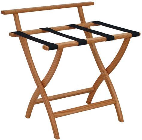 wooden mallet deluxe luggage racks