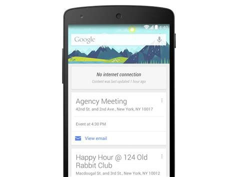 Android Gift Card - google now cards on android now available for offline use technology news