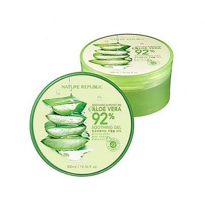 Nature Republic Aloe Vera Soothing Gel For Acne nature republic aloe vera soothing gel 300ml korean
