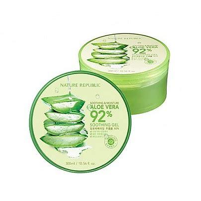 Nature Republic Aloe Vera 100 Soothing Gel nature republic aloe vera soothing gel 300ml korean