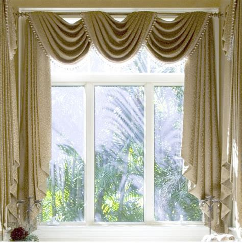 cutout swag valance sewing and pattern - Pattern Window Curtains