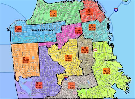 san francisco map by district task 171 san francisco citizen