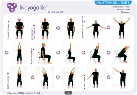 printable chair yoga poses 7 best images of printable chair yoga exercises for