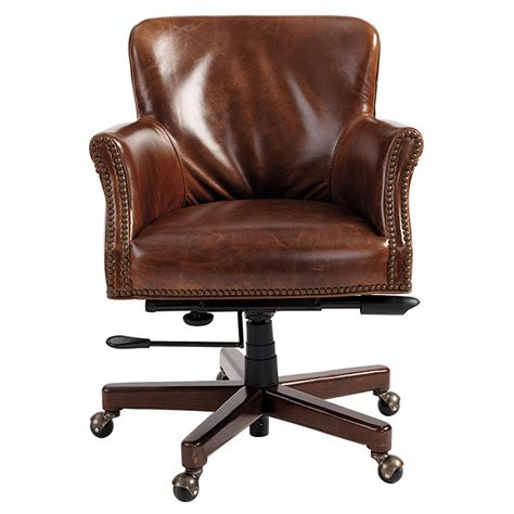 Desk Chairs Ballard Designs Pennington Leather Desk Chair