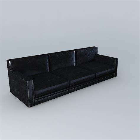aged leather couch dandy aged black leather sofa houses the w 3d model max