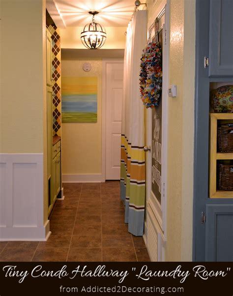 my small condo laundry room a k a hallway makeover