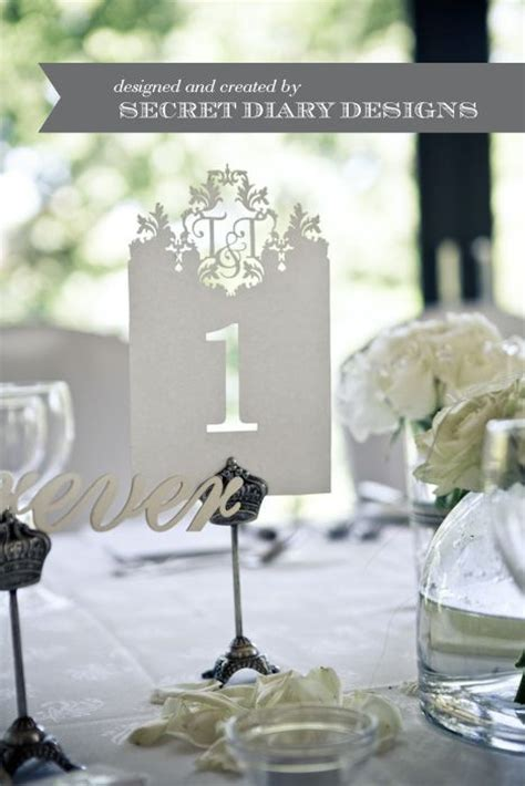 Elegant Table numbers for a wedding reception #White #DIY