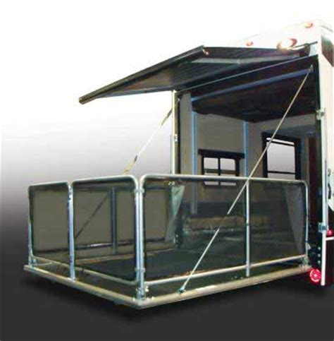 toy hauler awning 5th wheel toy hauler guide to rv adventure garage included
