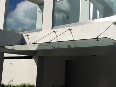 Glass Awning System by Canopies Vista Systems