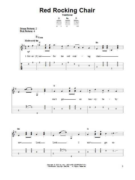 The Chair Chords by Rocking Chair Sheet By Traditional Easy Guitar