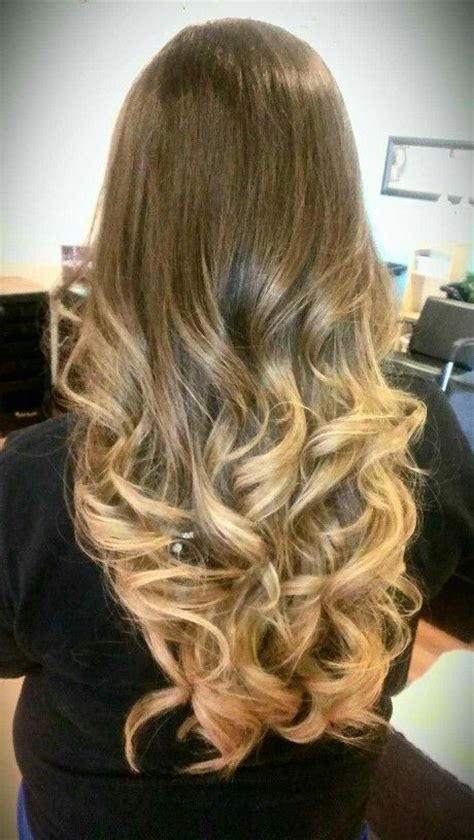 brown and blonde ombre with a line hair cut ombre hair brown to golden blonde everyday beauty
