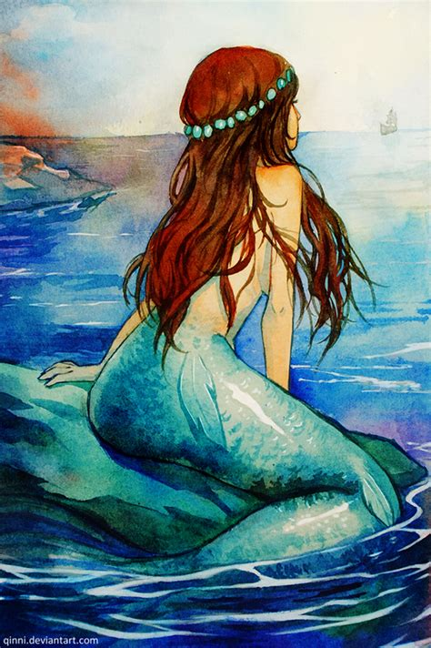 Rok Mermaid Duyung Batik mermaid waiting for prince by qinni on deviantart