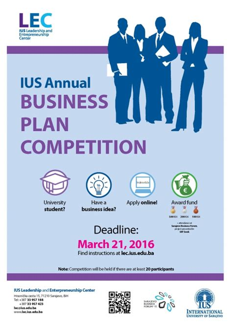 Business Plan Compeitions Mba by Deadline Extended Ius Annual Business Plan Competition
