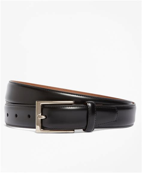 silver buckle leather dress belt brothers