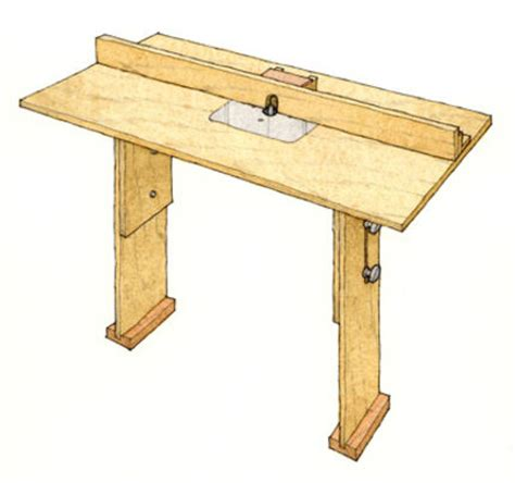 portable router table plans employing hobbies to cope
