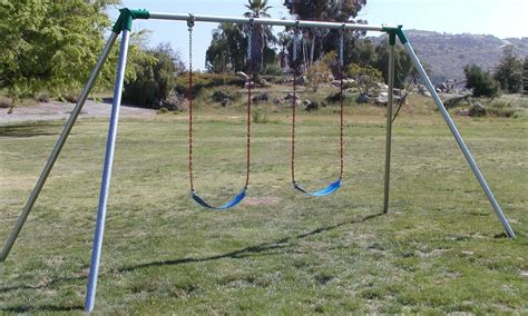 swing set height standard 10 ft high residential swing set playground