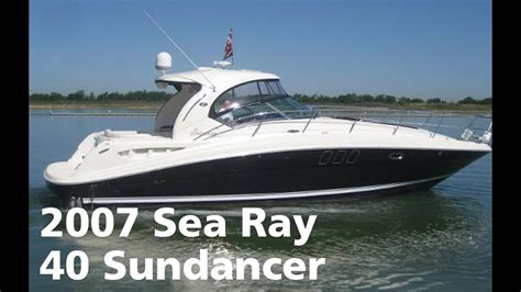 sea ray boats youtube 2007 sea ray 40 sundancer boat for sale at marinemax