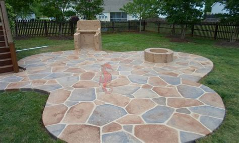 concrete patio ideas cost landscaping gardening ideas