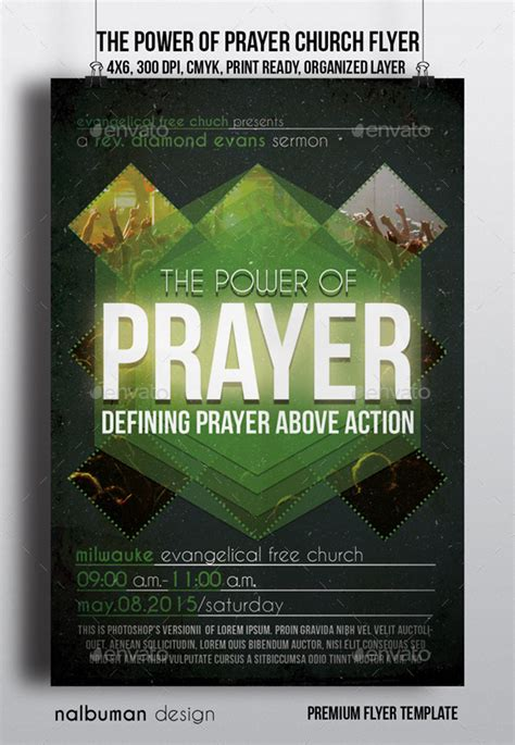 The Power Of Prayer Church Flyer By Nalbuman Graphicriver Prayer Flyer Template