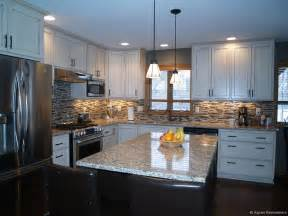 Remodeled Kitchen Cabinets by Custom White Cabinet Kitchen Remodel Aspen Remodelers