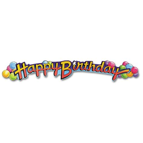 Banner Happy Birthday happy birthday banner 89cm peeks
