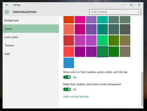 Change color of inactive title bars in Windows 10