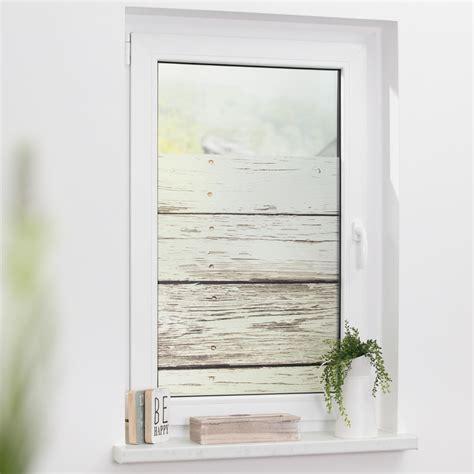 Fenster Sichtschutz Vintage fensterfolie selbstklebend sichtschutz bretter vintage