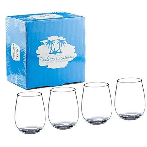 Unbreakable Barware by Poolside Unbreakable Stemless Plastic Wine Glasses