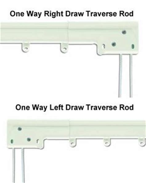 one way draw curtain rod curtain rods and hardware curtainshop com