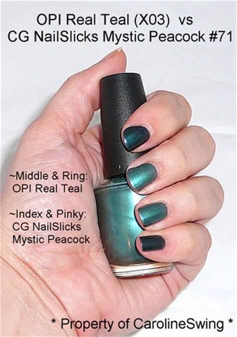 Nail 3d Peacock White opi real teal vs cover mystic peacock nail