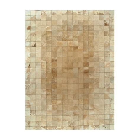 Cowhide Rug Patchwork - patchwork cowhide beize white leather carpet rug handmade