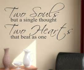 Wedding Reception Quotes Two Souls Two Hearts Quote Vinyl Wall Lettering Vinyl Wall