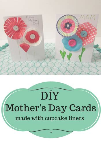 s day cupcake card template easy s day cards made with cupcake liners
