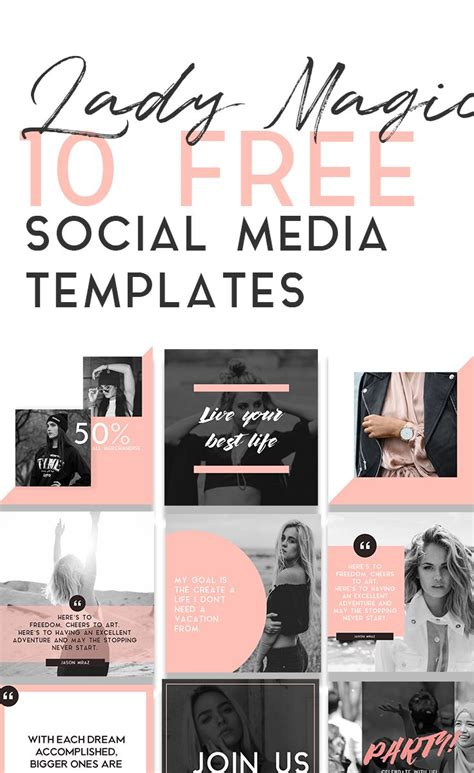 Best 25 Social Media Template Ideas On Pinterest What Is Marketing Strategy Small Business Social Media Design Templates Free