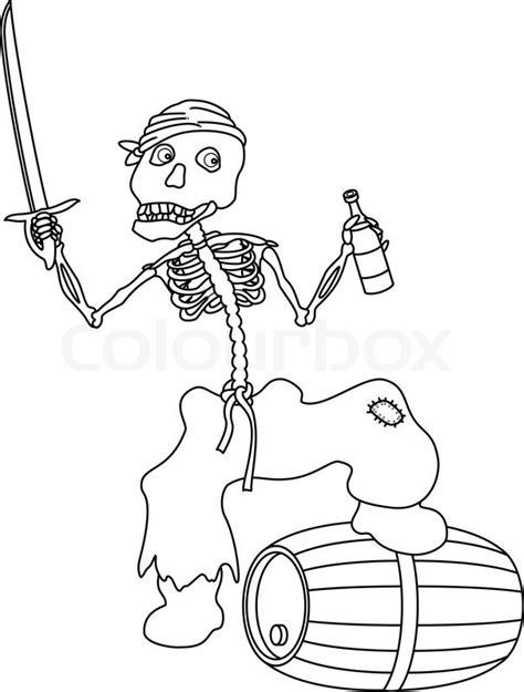 imagenes calaveras literarias para colorear evil zombie pirate jolly skeleton with a sword a bottle
