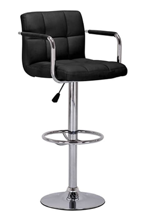 Adjustable Kitchen Stools by Kitchen Bar Breakfast Bar Stools With Arm Rests Chrome