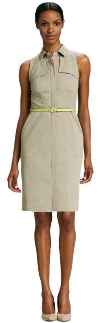 elie tahari beige shirt above knee casual maxi dress size 4 s tradesy