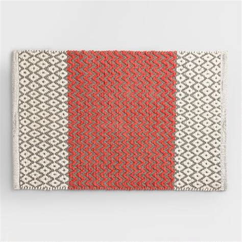 Coral Bath Rug by Coral And Gray Chenille Bath Mat World Market