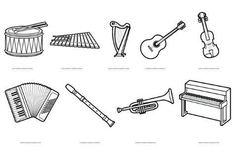 imagenes de instrumentos musicales para dibujar instrumentos musicales dibujos para colorear e imprimir