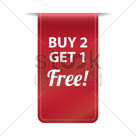 Buy 2 Get 1 Free free buy two get one free banner vector image 1502091 stockunlimited