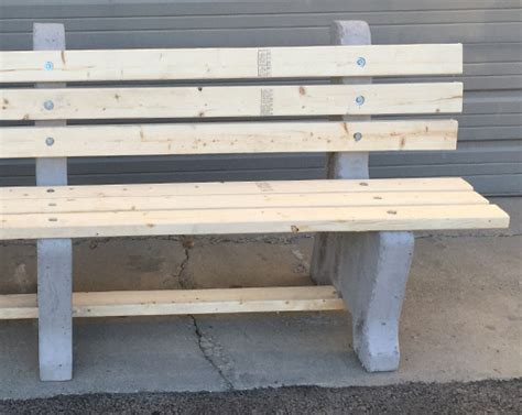concrete and wood park benches iroc benches concrete wood park benches redi mix services