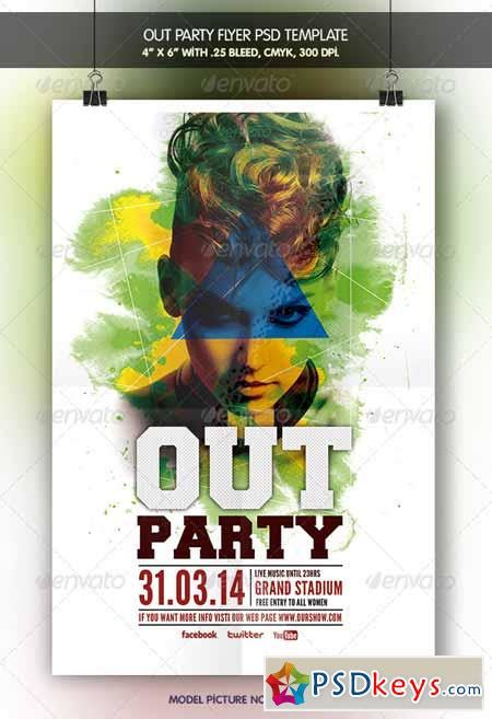 Out Flyer Template Free Out Party Flyer Template 6942630 187 Free Download Photoshop Vector Stock Image Via Torrent