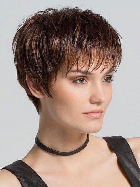 short hairstyles  short edgy thick layered