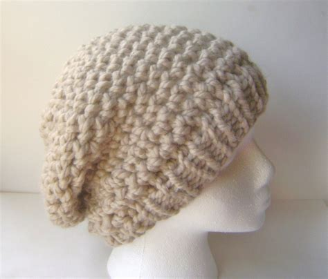 crochet hat pattern thick yarn pdf crochet pattern chunky crochet slouch hat with knit or
