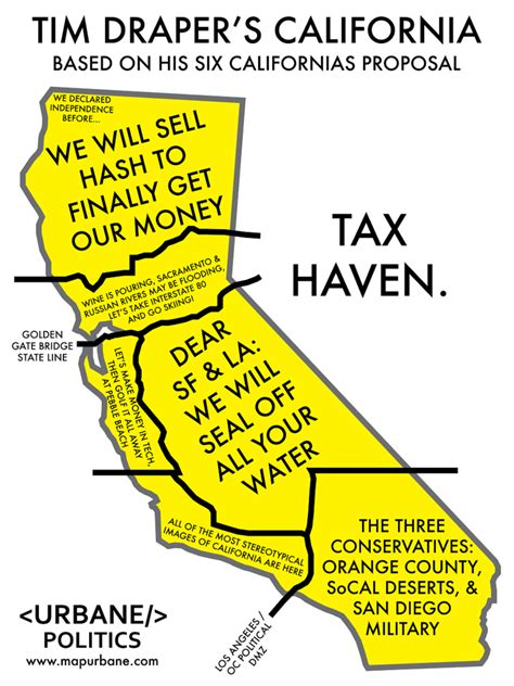 california map meme tim draper s six states of california culture map t shirt