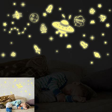 Glow In The Dark Wall Stickers Stars pretty fluorescent big dipper magical galaxy space poster