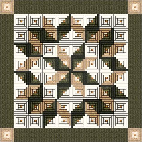 quilt pattern with different size blocks size of the quilt 105 quot x 105 quot building blocks log cabin