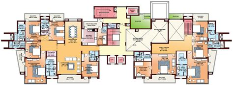 five bedroom flat plan floor plans parsvnath exotica gurgaon