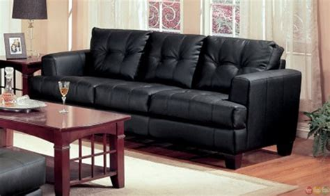 black leather sofa living room samuel black bonded leather living room sofa and loveseat